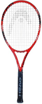 Head Mx Fire Pro 0-5 Strung Tennis Racquet (Red, Black, Weight - 315 g)