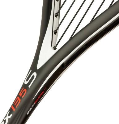 TECNIFIBRE CARBOFLEX 135 S G3 Strung Squash Racquet (Black, White, Weight - 135 g)