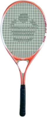 Cosco 25 Juniors Strung Tennis Racquet (White, Orange, Weight - 350 g)