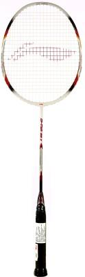 Li-Ning G Tek 60 II S2 Strung Badminton Racquet (White, Silver, Weight - 83 g)