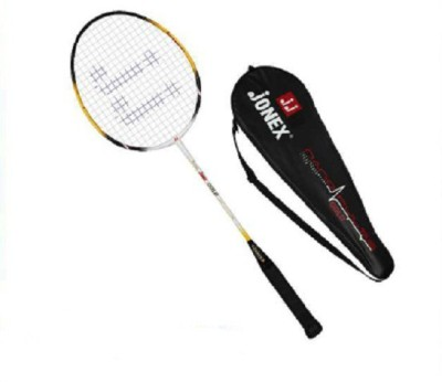 JJ JONEX HIGH QUALITY GOLD Strung Badminton Racquet (Multicolor, Weight - 100 g)
