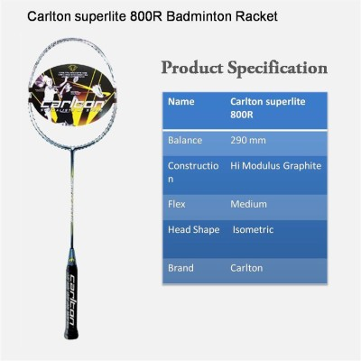 Carlton Powerblade 9900 Tour G4 Unstrung Badminton Racquet (Multicolor, Weight - 80 g)