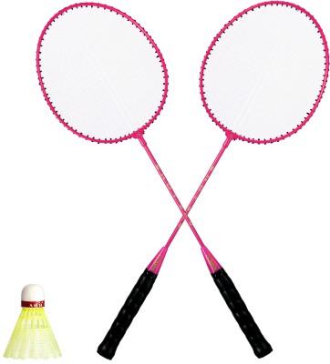 DERBY SHOT G4 Strung Badminton Racquet (Pink, Weight - 300)