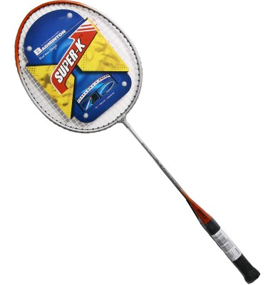 Super-K Ferroalloy G4 Badminton Racquet (Black, Red, Weight - 400)