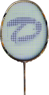 DSC Nano Lite 2000 Gold/Black/White G4 Strung Badminton Racquet (Gold, Black, White, Weight - 85 g)