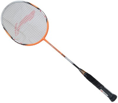 Li-Ning G-Tek 80 Muscle II Standards Strung Badminton Racquet (Orange, Grey, Weight - 88 g)