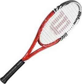 wilson blx six one lite 102 g4 strung tennis racquet carbon basalt best deals with price. Black Bedroom Furniture Sets. Home Design Ideas