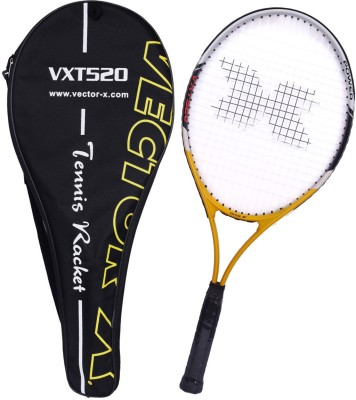 Vector X Vxt 520 27 inches Senior with full cover 4# Strung Tennis Racquet (Yellow, White, Weight - 305 g)