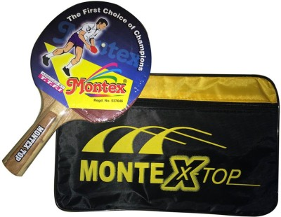 Montex Top Table Tennis Racquet (Red, Black, Weight - 200 g)