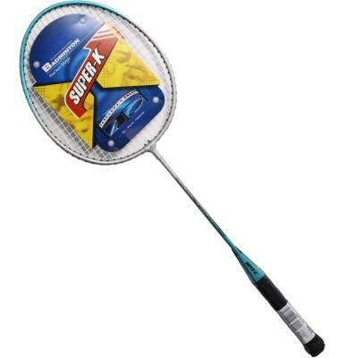 Super-K Ferroalloy Badminton G4 Badminton Racquet (Blue, Weight - 150gms)