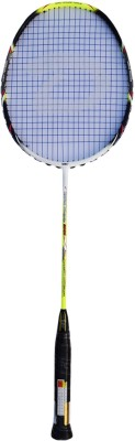 DSC Ultra Power 3000 Black/Lime/White G4 Strung Badminton Racquet (Black, Green, White, Weight - 85 g)