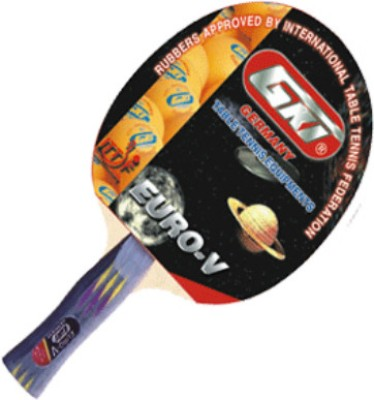 GKI Euro V Table Tennis Racquet-Multicolor