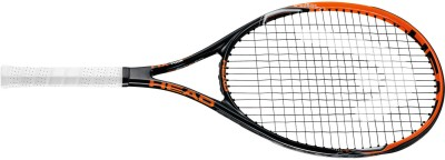 Head MX Cyber Tour G3 Strung Badminton Racquet (Black, Orange, Weight - 3U)