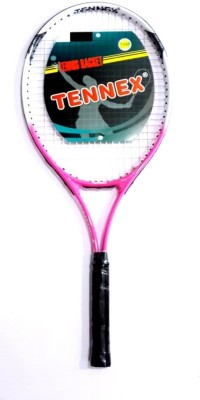 Tennex T-007 PINK Strung Tennis Racquet (Pink, White, Weight - 425)