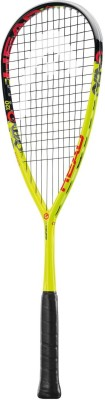Head Graphene XT Cyano 120 G4/3 Strung Squash Racquet (Yellow, Black, Red, Weight - 120 g)