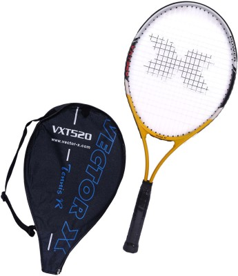 Vector X Vxt 520 27 inches Senior with 3/4th cover 4# Strung Tennis Racquet (Yellow, White, Weight - 310 g)