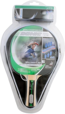 Donic Waldner 400 gift set G2 Table Tennis Racquet (Green, Weight - 350 g)