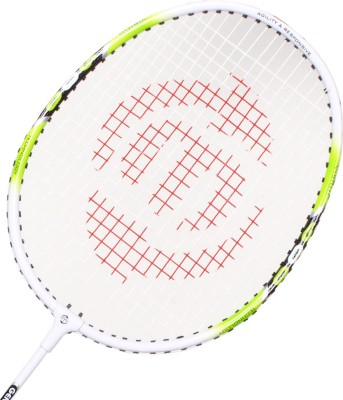Maspro Genius 600 G4 Strung Badminton Racquet (White, Yellow, Weight - 300 g)