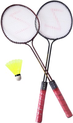 klapp klapp badmintion zigma 4 Strung Badminton Racquet (Brown, Weight - 400 g)