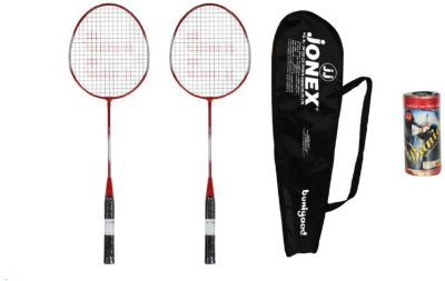 JJ JONEX BUNIYAD SET COMBO Strung Badminton Racquet (Multicolor, Weight - 480 g)