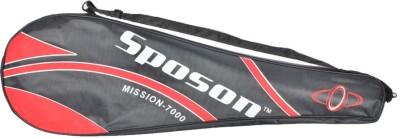 Sposon Mission 7000 G4 Strung Badminton Racquet (Red, Weight - 81 g)