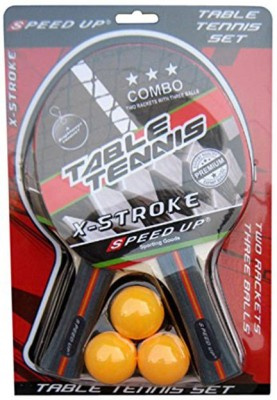 SPEED UP X-STROKE G2 Table Tennis Racquet (Red, Weight - 300 g)