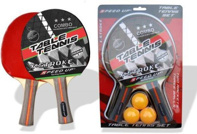SPEED UP X-STROKE G2 Strung Table Tennis Racquet (Red, Weight - 300 g)