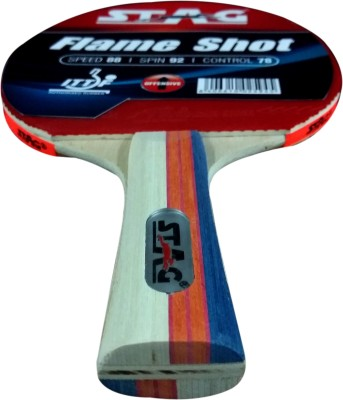 Stag Flame shot Table Tennis Racquet (Blue, Red, Weight - 180 g)