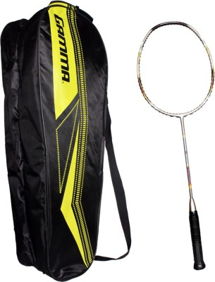 Gamma Ultimax 100 Powerlite G4 UnStrung Badminton Racquet (Grey, Red, Weight - 85 g)
