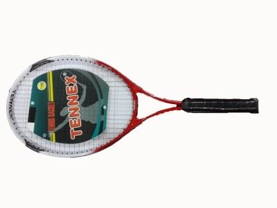 Tennex T-007 RED Strung Tennis Racquet (Red, White, Weight - 425)