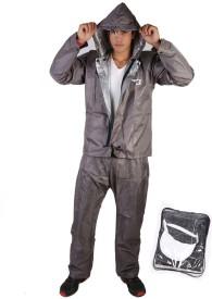Burdy Nylon Rain Suit Solid Men's Raincoat