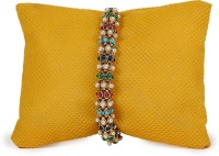 Thinking Of You Colorful Stones Bracelet Beads Design Designer Rakhi Multicolor, Rakhi