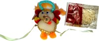 ICraft World Single Cute Teddy Rakhi White Color With Roli, Chawal Design Kids Rakhi (Multicolor, 1 Rakhi With Chawal,Tikka)