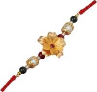 Aarya 24kt Floral Design Designer Rakhi Gold, Gold Foil Rakhi