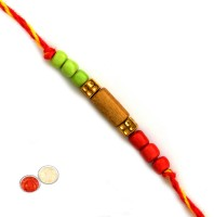 Tradition India Design Designer Rakhi Multicolor, 1 Beads Rakhi, 1 Pack Roli, 1 Pack Rice - RAKE9YAGYFTV6WRP