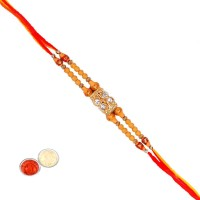 Tradition India Design Designer Rakhi Multicolor, 1 Beads Rakhi, 1 Pack Roli, 1 Pack Rice