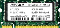 Buffalo Original DDR 512 MB (1 x 512 MB) Laptop SDRAM (B24201506-22)