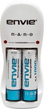 Envie N.A.N.O. Charger + 2 x AA 1000 mAh Ni Cd