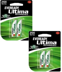 Eveready 2100 mAh AA Battery with 4 Battery (2+2) Rechargeable Battery
