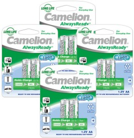 Camelion NH-AA1000ARBP2 x 4 PACK Rechargeable Ni-MH Battery