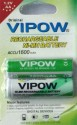 Vipow AA Rechargeable Battery 1600mah 2 Pieces Rechargeable Ni-MH Battery