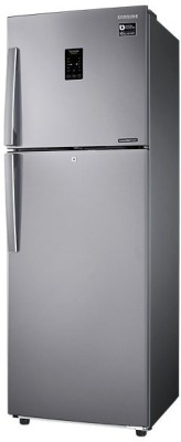 SAMSUNG 318 L Frost Free Double Door Refrigerator (RT34K3983SL, Easy Clean Steel)