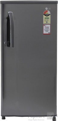 LG 188 L Direct Cool Single Door Refrigerator (GL-B191KPZQ, Shiny Steel)