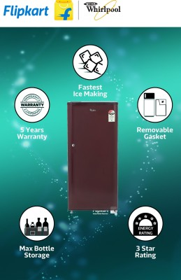 Whirlpool 190 L Direct Cool Single Door Refrigerator (205 CLS 3S, Solid Wine)
