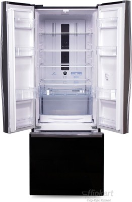 Hitachi 456 L Frost Free French Door Bottom Mount Refrigerator (R-WB480PND2, Glass Black)