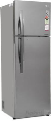 LG 360 L Frost Free Double Door Refrigerator (GL-D402JPZL, Shiny Steel)
