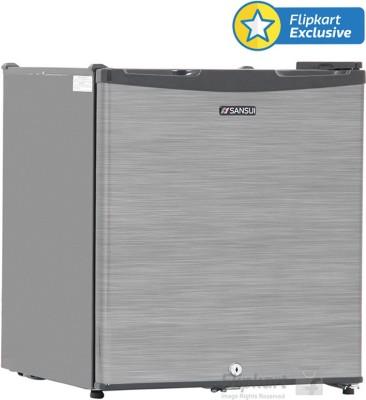 Sansui 80 L Direct Cool Single Door Refrigerator (SC090LSH - FDW, Silver Hairline)