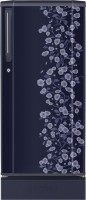 Haier 190 L Direct Cool Single Door Refrigerator (HRD-2105PBD-H, Dark Blue Floral)