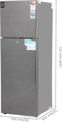 Haier-HRF-2903BS-270Litres-3S-Double-Door-Refrigerator-(Brushed-Silver)