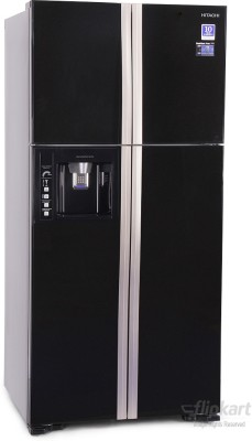 View Hitachi R-W660PND3 586 L Side by Side  Refrigerator Price Online(Hitachi)
